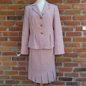 New Talbots Skirt Blazer Wool Suit Set